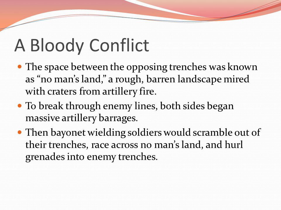 A Bloody Conflict
