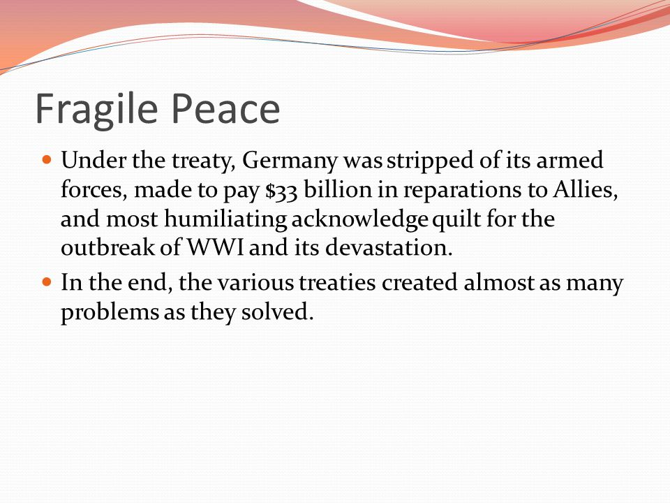 Fragile Peace