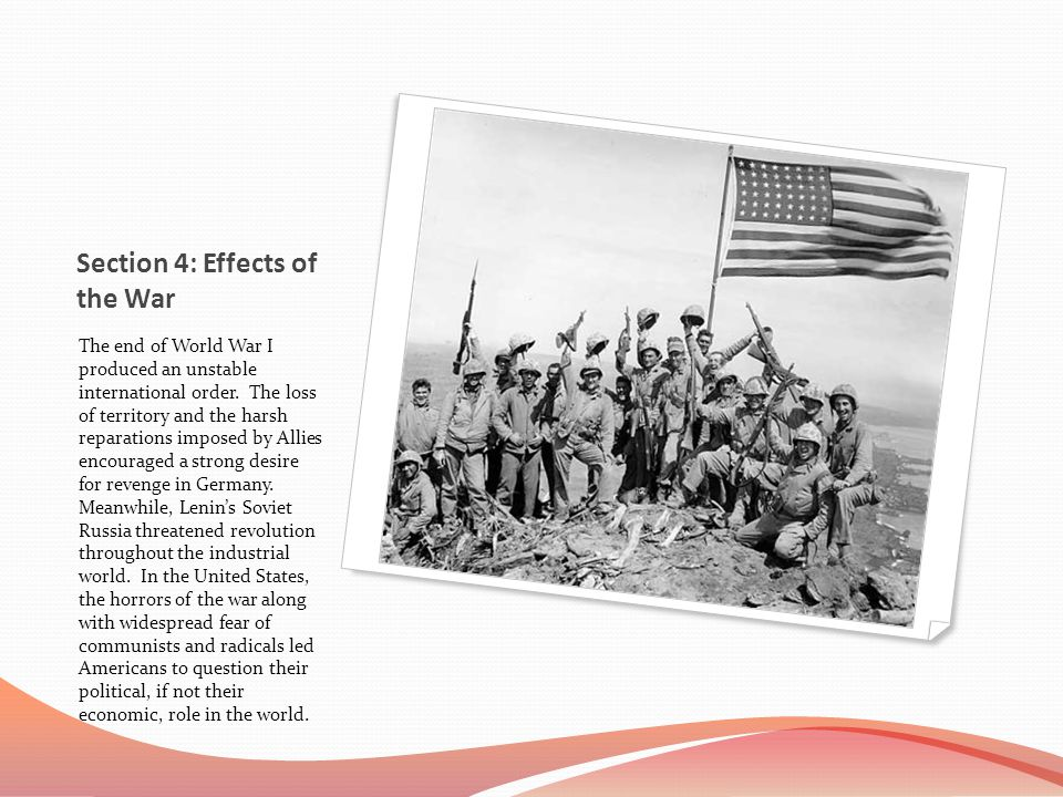 Section 4: Effects of the War