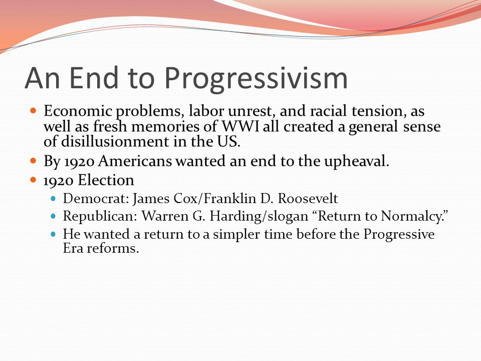 An End to Progressivism