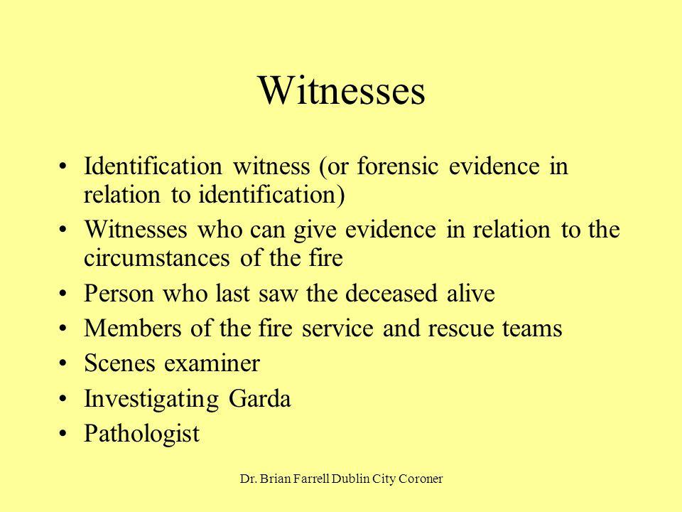 Dr. Brian Farrell Dublin City Coroner