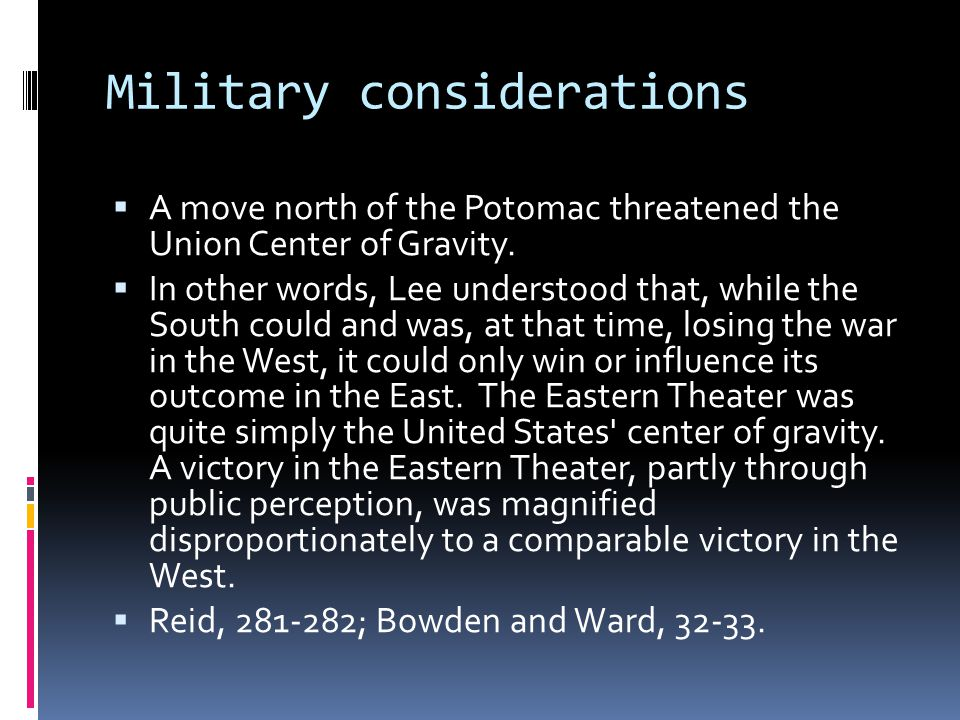 Military considerations