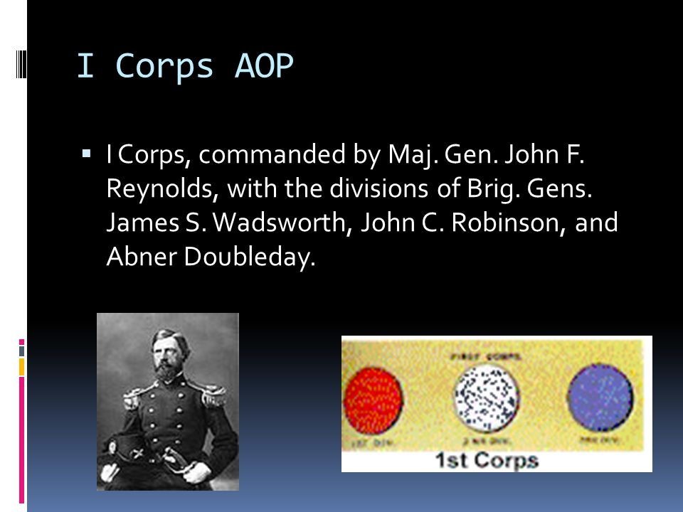 I Corps AOP