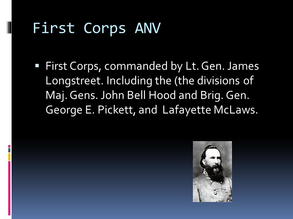 First Corps ANV