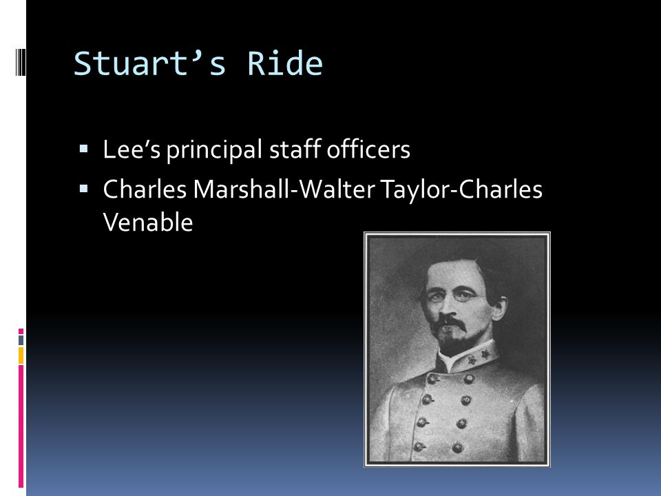 Stuart's Ride Lee's principal staff officers