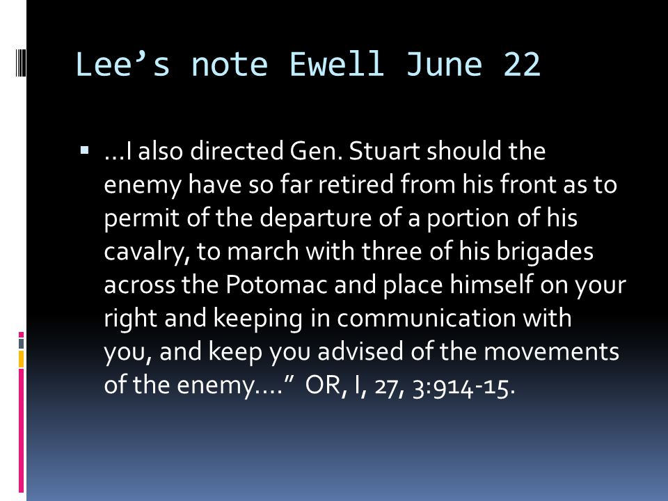Lee's note Ewell June 22