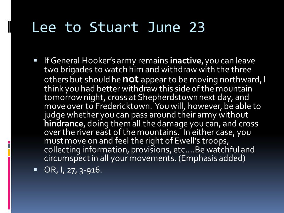 Lee to Stuart June 23