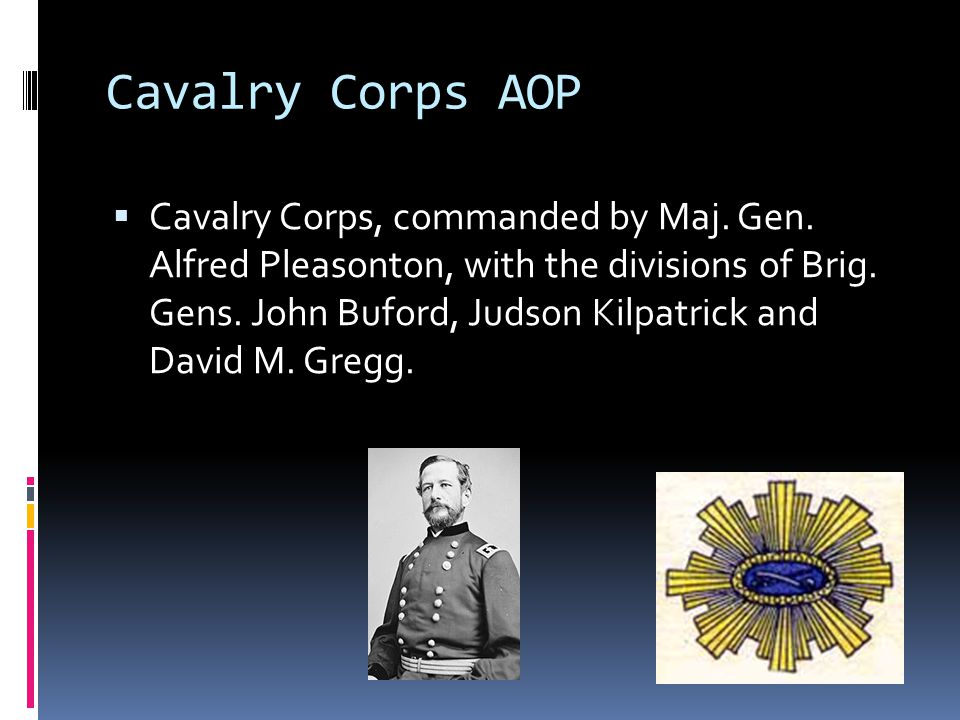 Cavalry Corps AOP