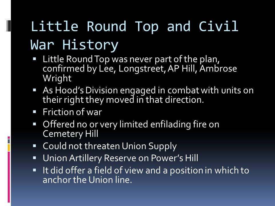Little Round Top and Civil War History