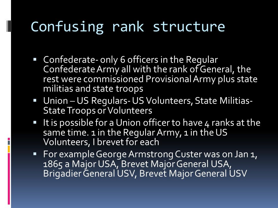 Confusing rank structure