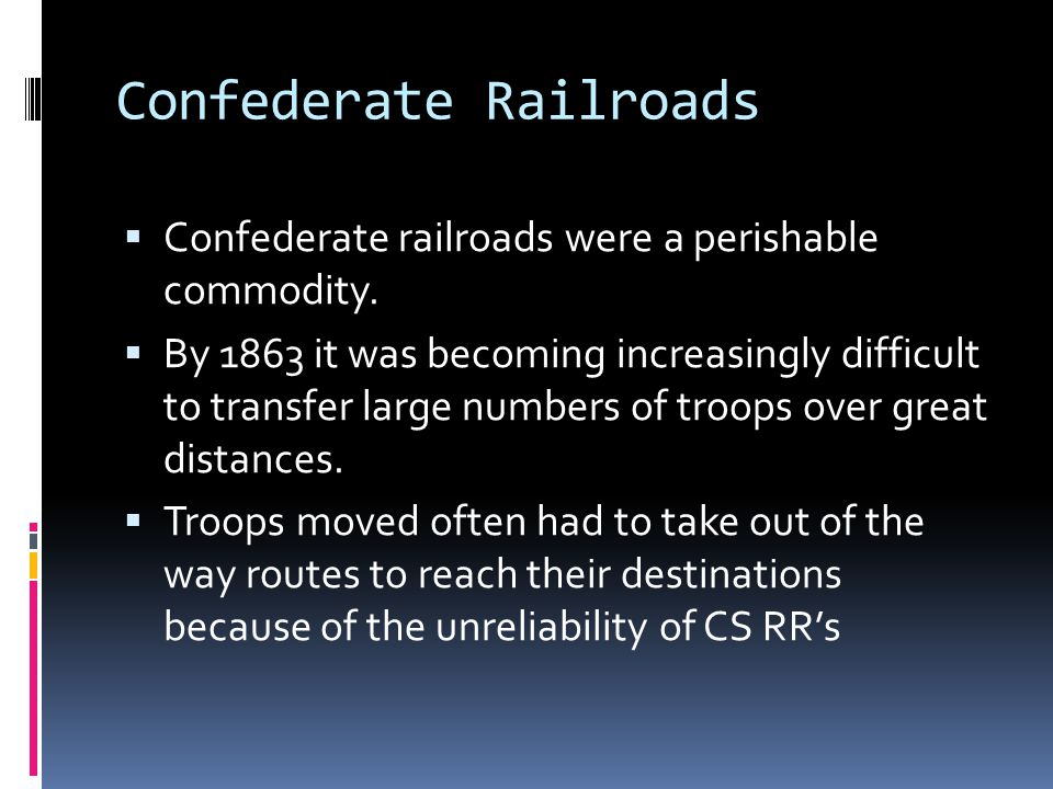 Confederate Railroads
