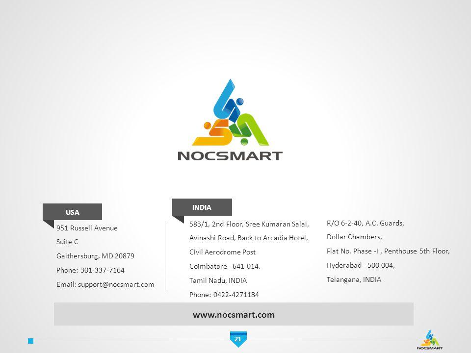 www.nocsmart.com INDIA USA 583/1, 2nd Floor, Sree Kumaran Salai,