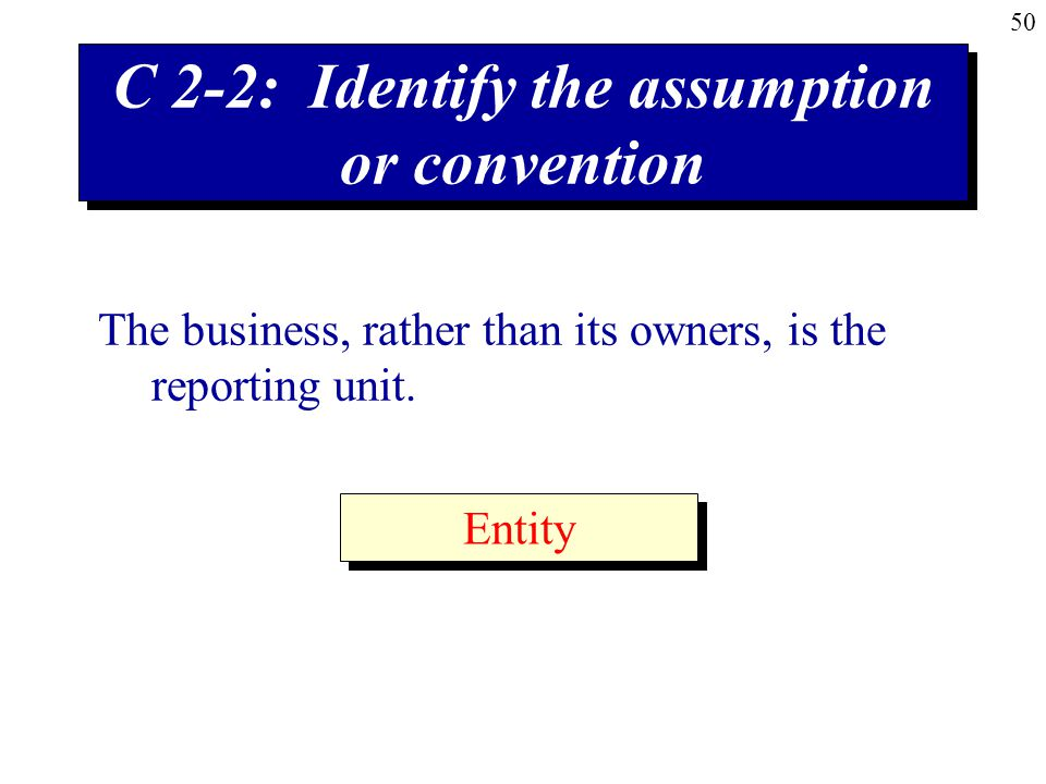 C 2-2: Identify the assumption or convention