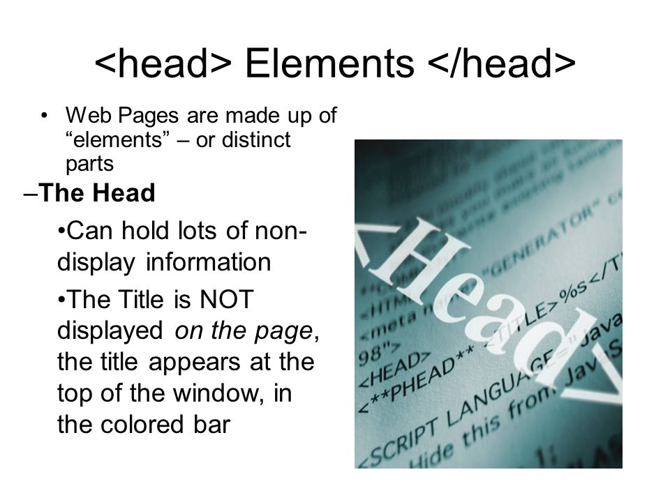 <head> Elements </head>