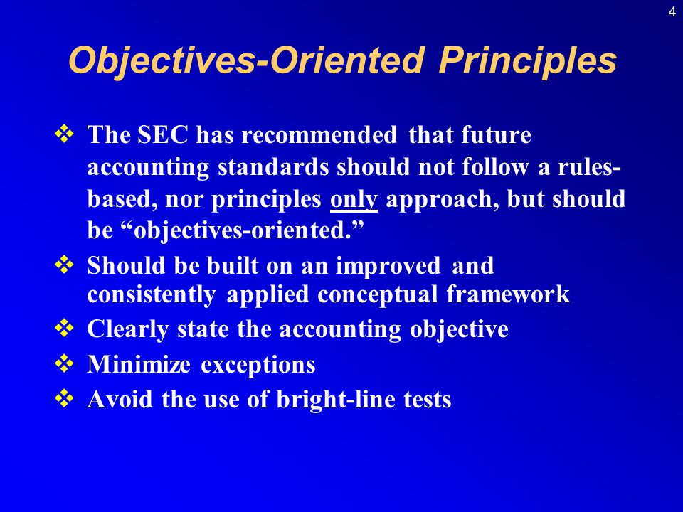 Objectives-Oriented Principles