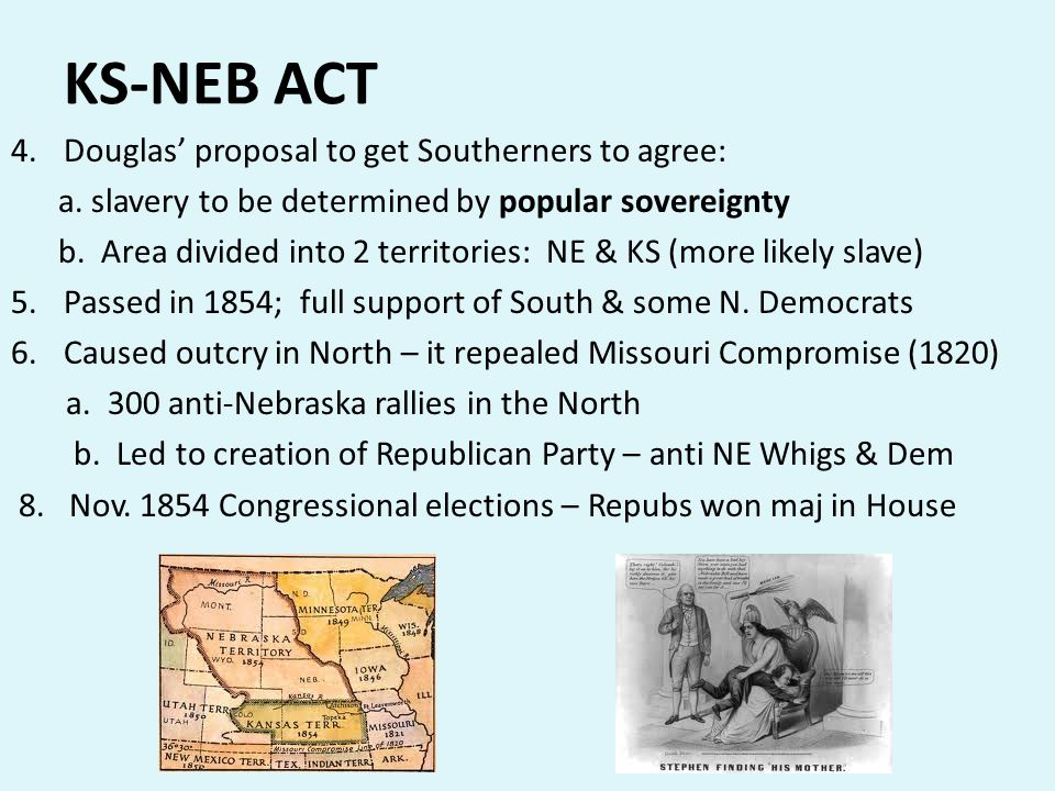 KS-NEB ACT Douglas' proposal to get Southerners to agree: