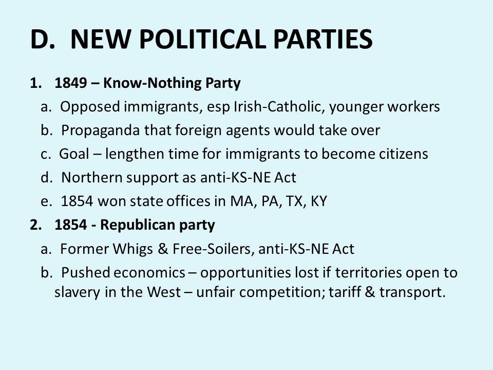 D. NEW POLITICAL PARTIES