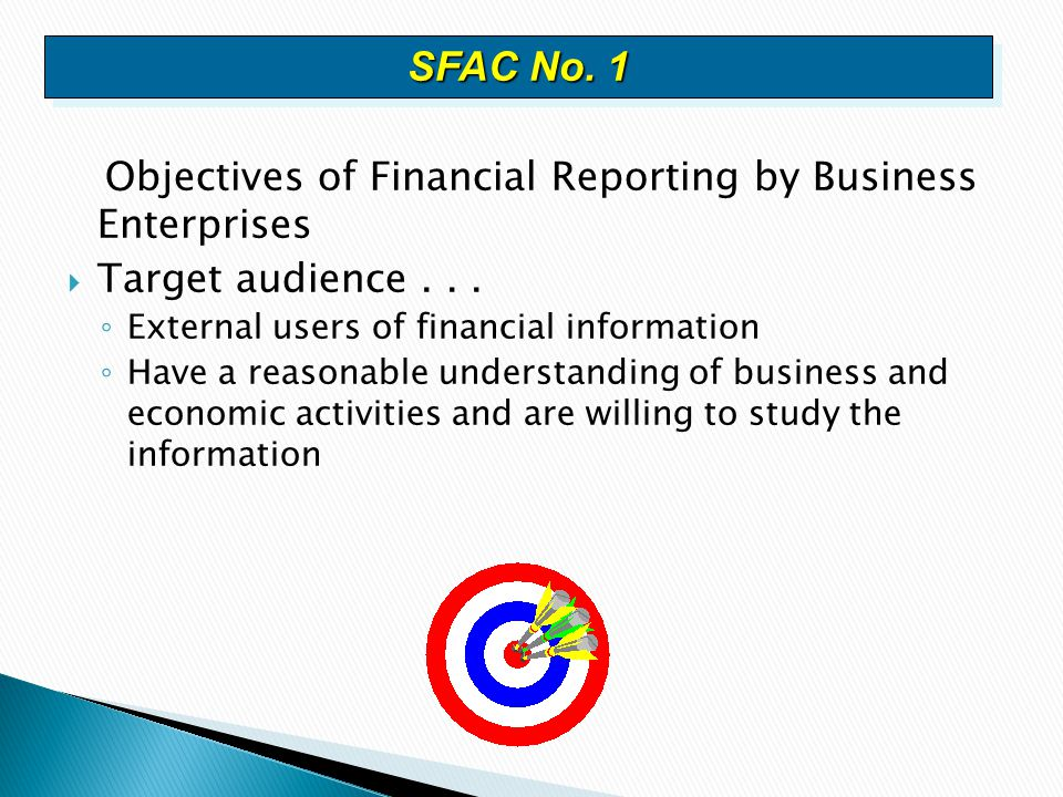 SFAC No. 1 Objectives of Financial Reporting by Business Enterprises