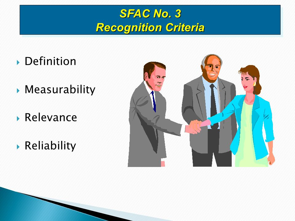 SFAC No. 3 Recognition Criteria