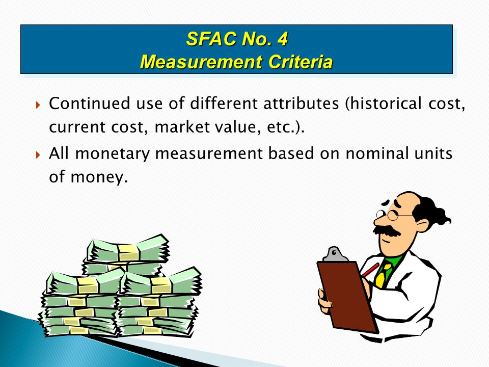 SFAC No. 4 Measurement Criteria