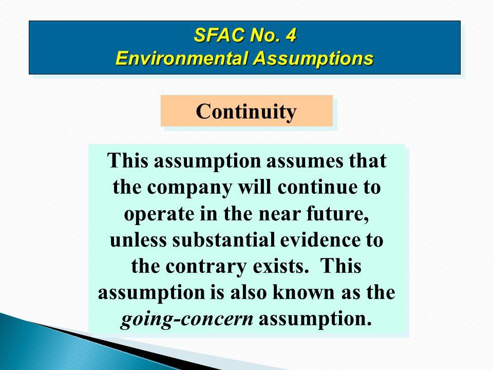 SFAC No. 4 Environmental Assumptions