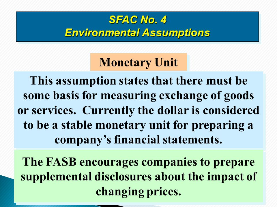 SFAC No. 4 Environmental Assumptions
