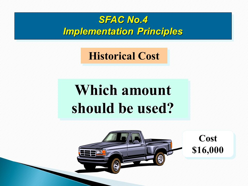 SFAC No.4 Implementation Principles Which amount should be used