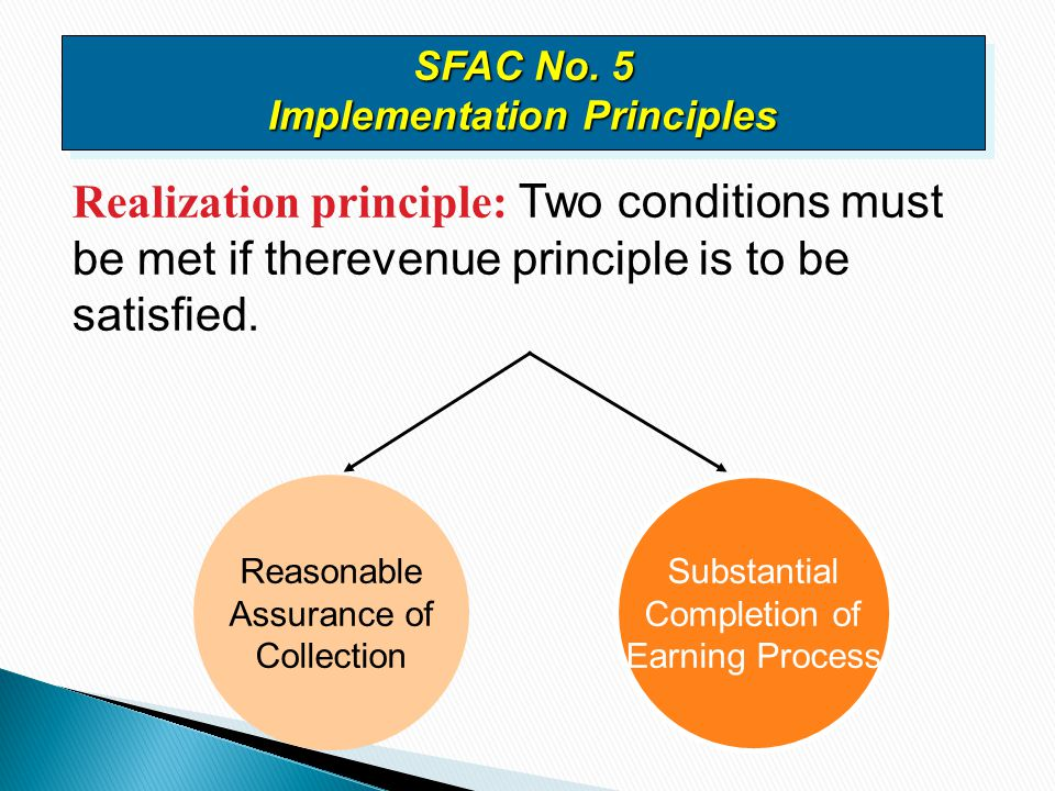 SFAC No. 5 Implementation Principles