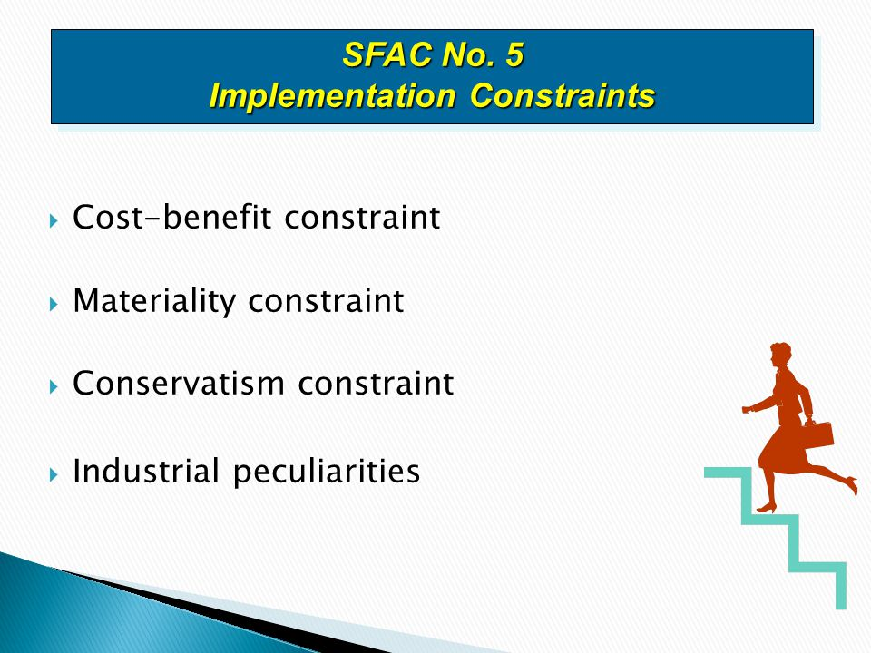 SFAC No. 5 Implementation Constraints