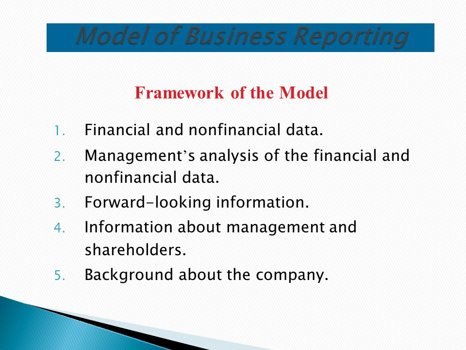 Model of Business Reporting