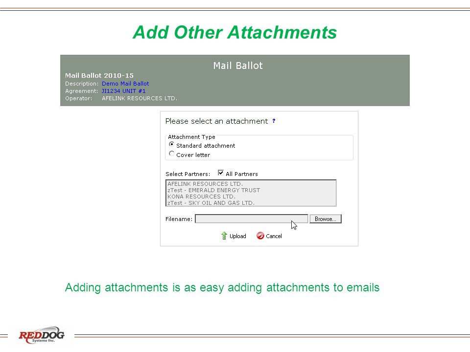 Add Other Attachments Adding attachments is as easy adding attachments to emails