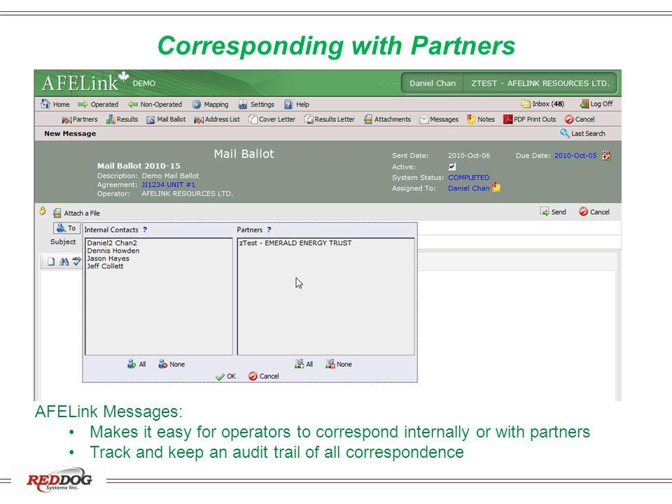 Corresponding with Partners