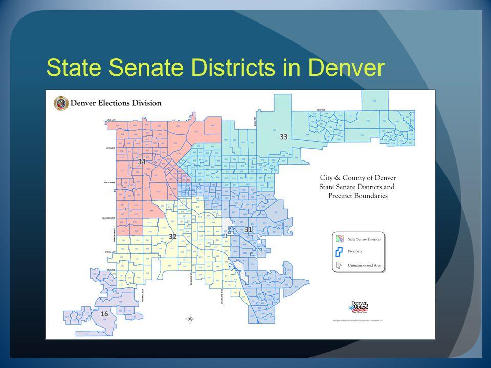 State Senate Districts in Denver