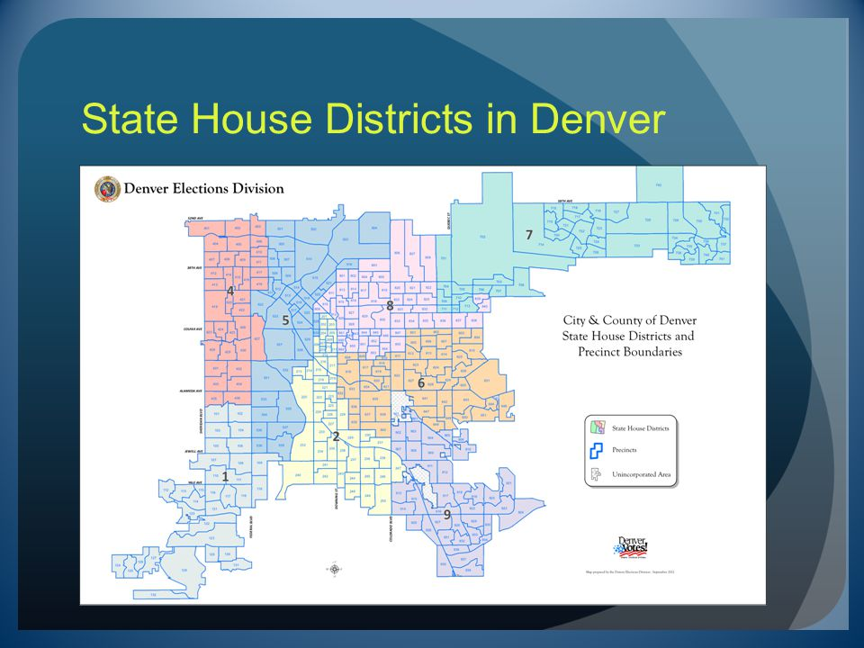 State House Districts in Denver