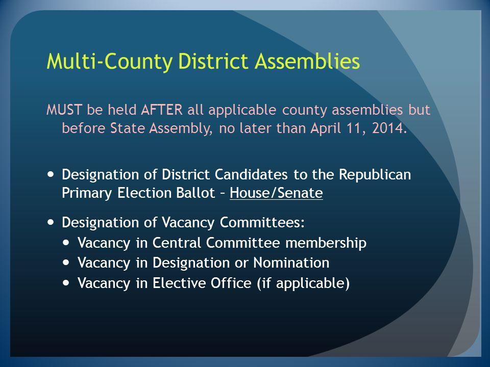 Multi-County District Assemblies