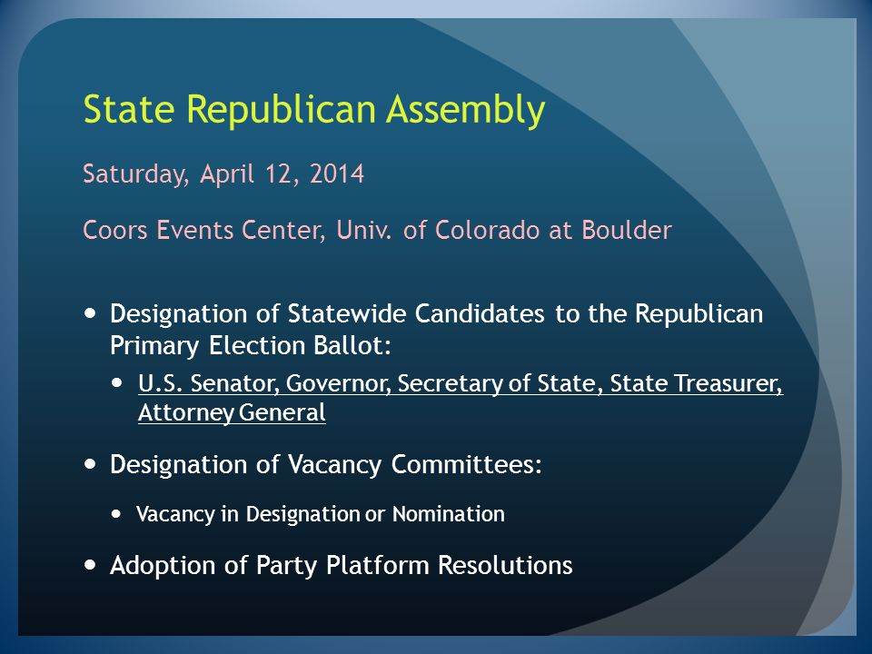 State Republican Assembly