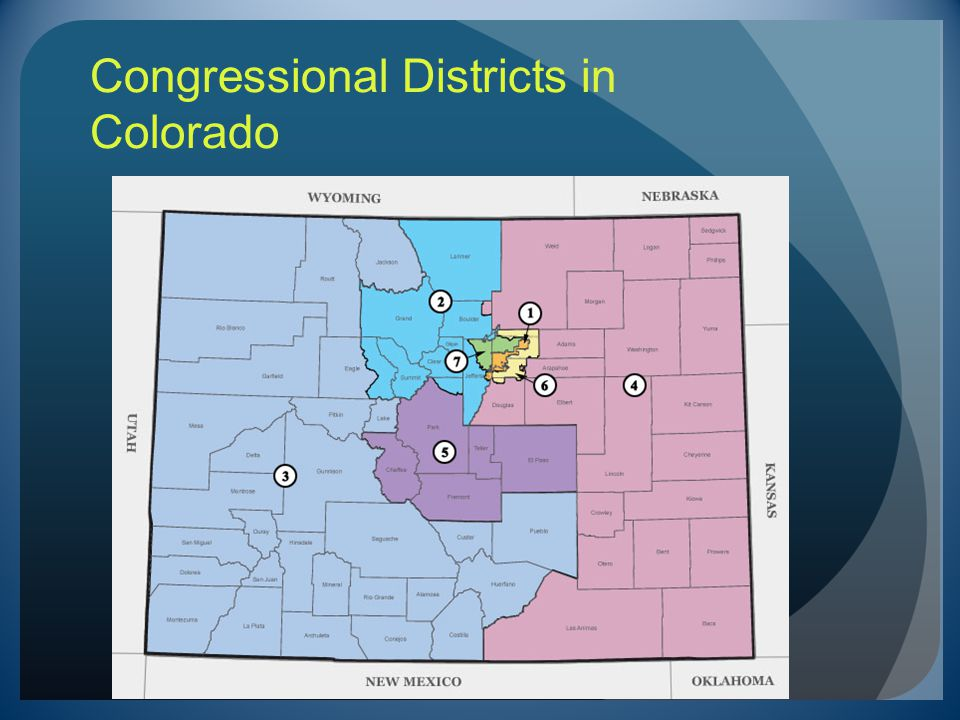 Congressional Districts in Colorado