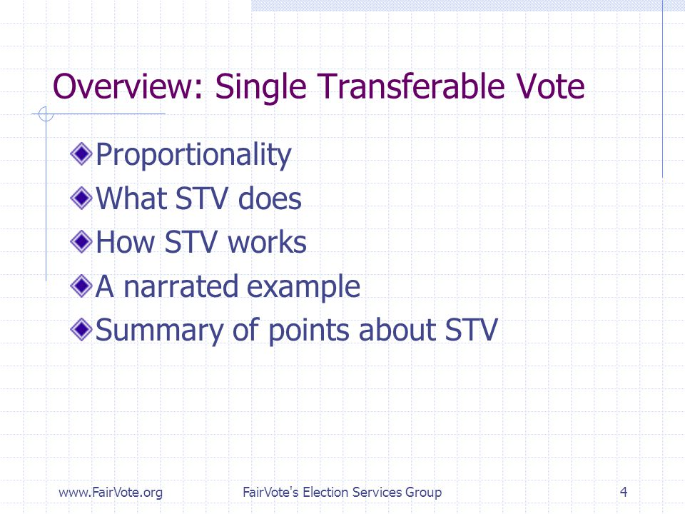 Overview: Single Transferable Vote