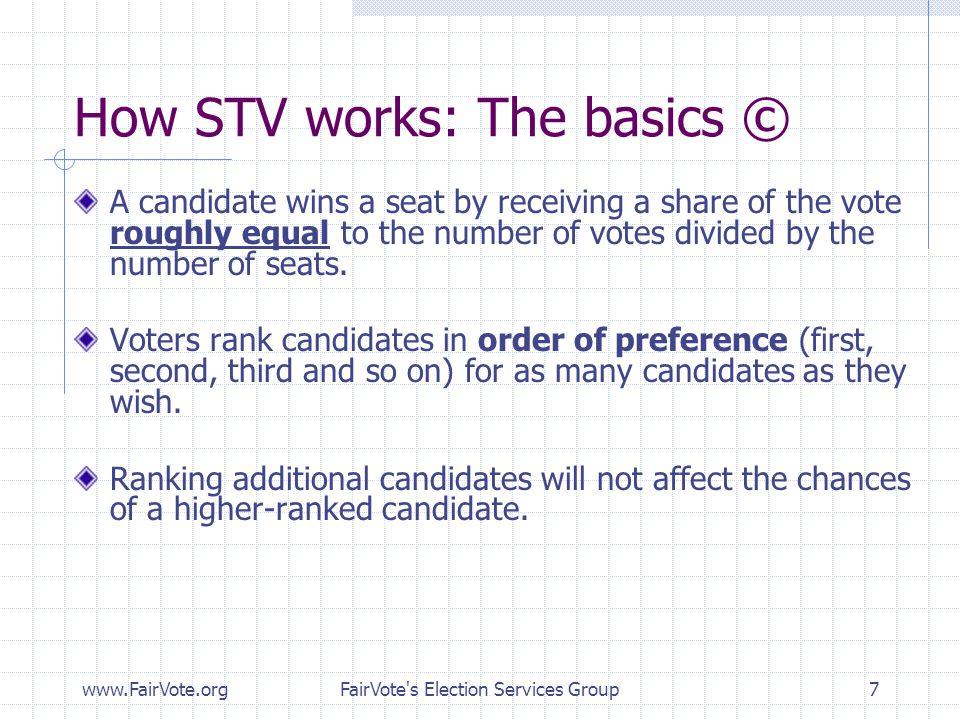 How STV works: The basics ©