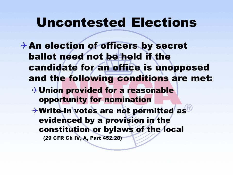 Uncontested Elections