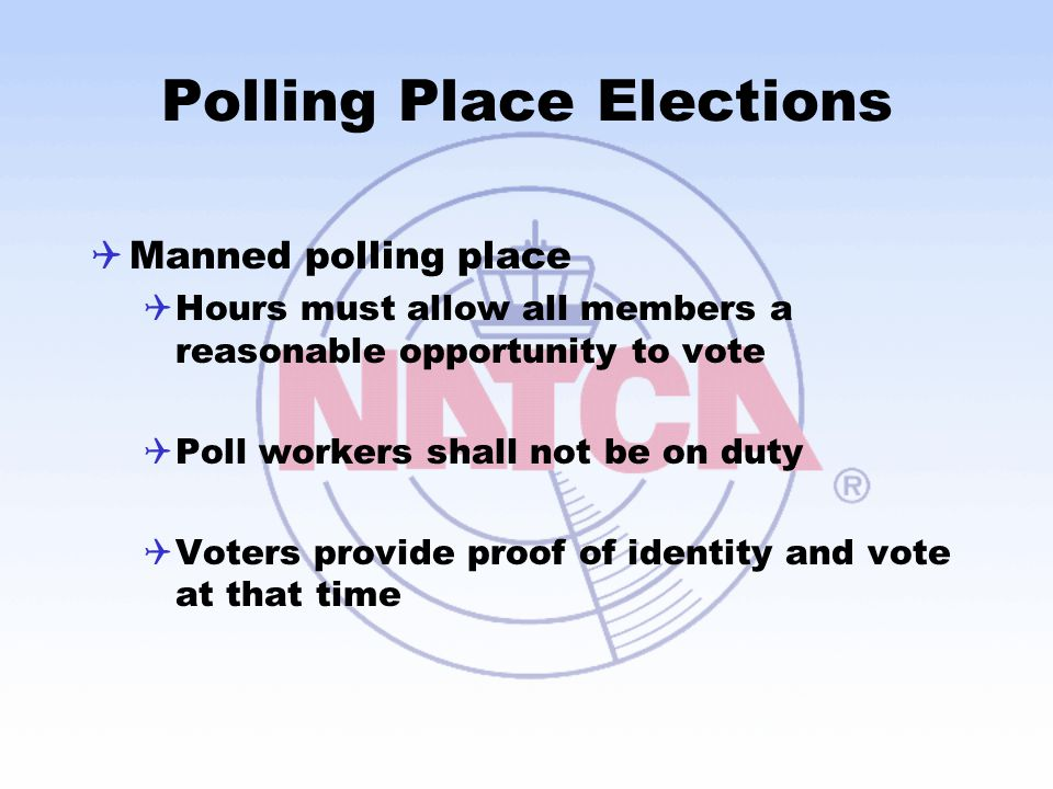 Polling Place Elections