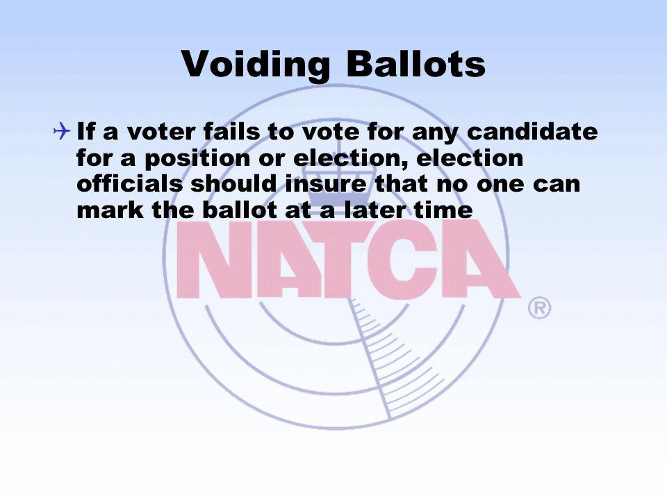 Voiding Ballots
