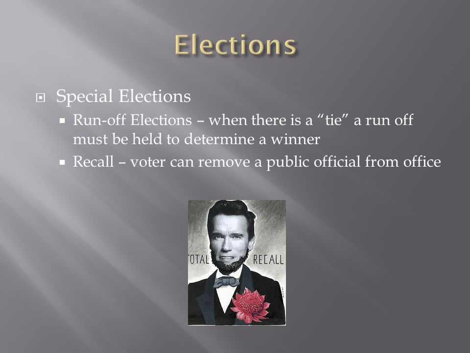 Elections Special Elections