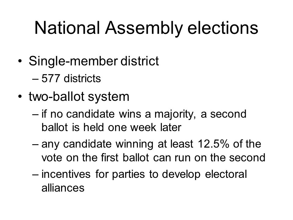 National Assembly elections
