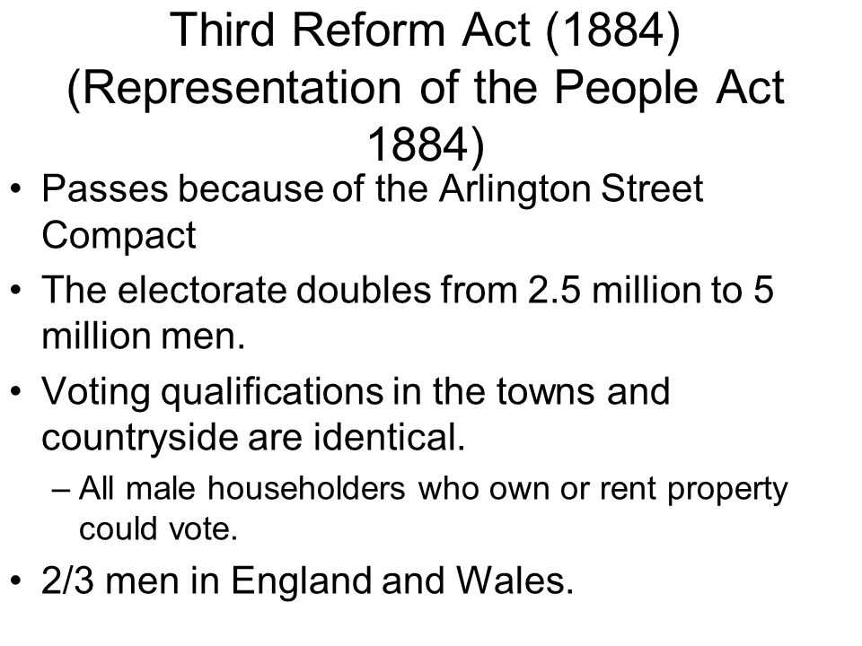 Third Reform Act (1884) (Representation of the People Act 1884)