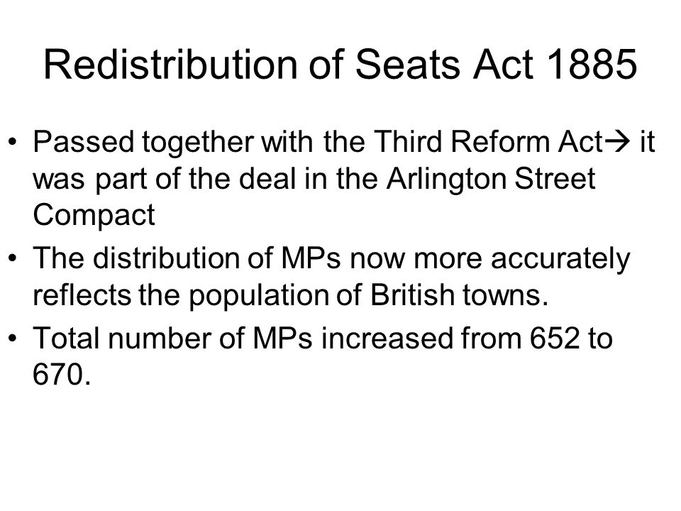 Redistribution of Seats Act 1885