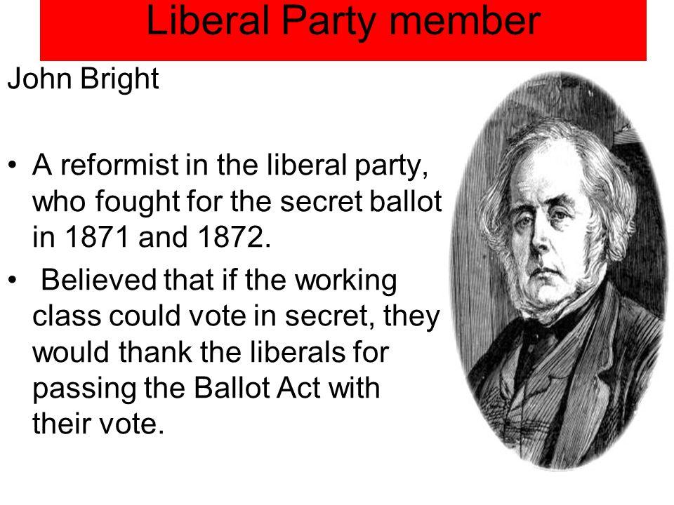 Liberal Party member John Bright