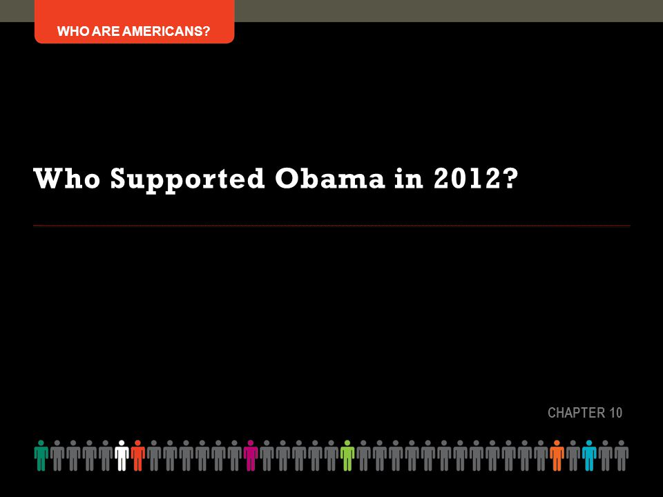 Who Supported Obama in 2012 CHAPTER 10
