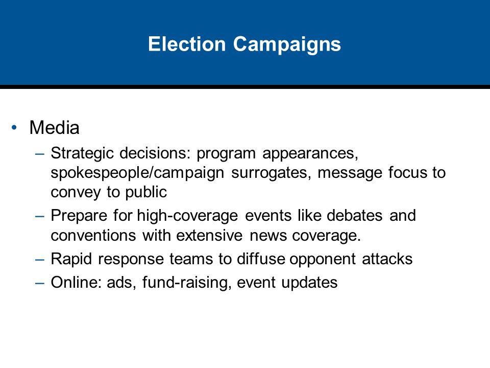 Election Campaigns Media