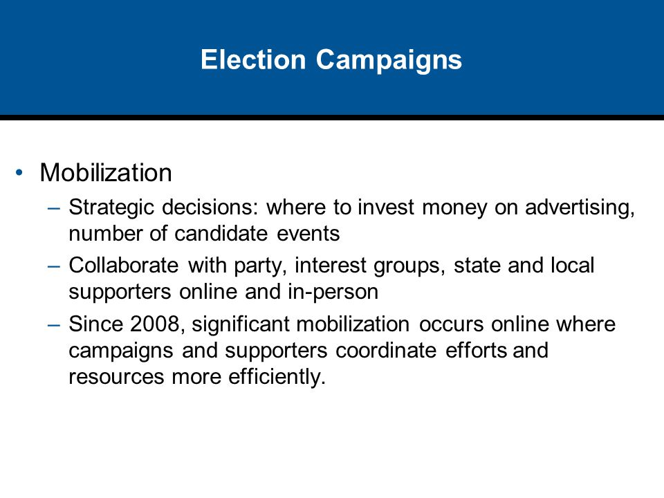 Election Campaigns Mobilization